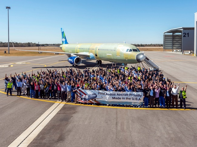 First Airbus aircraft Made in the USA